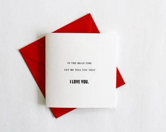 I Love You Card, Anniversary Card, Valentine Card, Valentine's Day Card, Love Card
