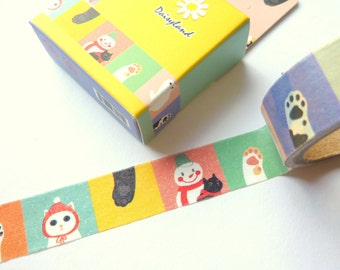 Kawaii Christmas Cats Snowman Washi Tape 15mm x 5m