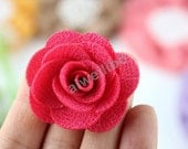Fabric Rose flowers,Fabric flower,Diy headband supplies