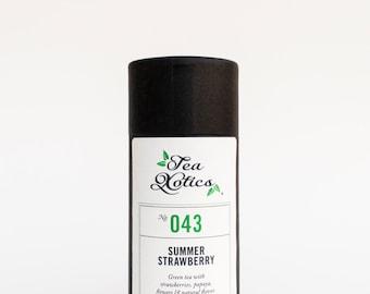 Green Tea Blend / Strawberry Green Tea Blend /  Fruity Green Tea  Blend / Loose Leaf Tea Blend / NO. 043 / SUMMER STRAWBERRY