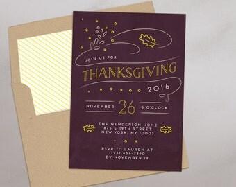 thanksgiving invitation for friends or family printable invitation evite e vite - Evite Halloween Party