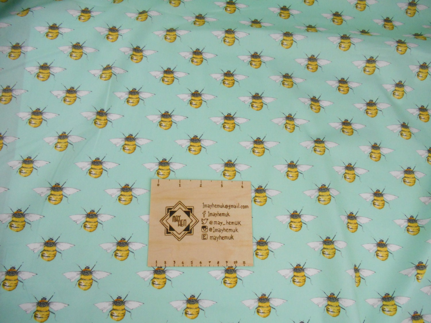 Bees green fabric nursery blanket material summer dress for Nursery fabric uk