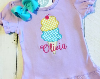 Sweet Ice Cream Applique