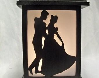 Cinderella wooden lantern