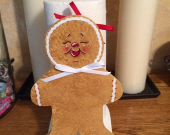 Holiday paper towel holder