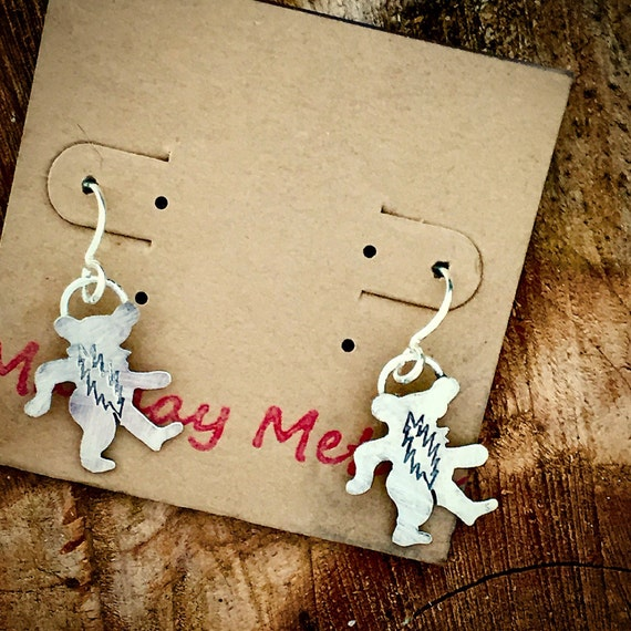 Dancing bear earrings-1150