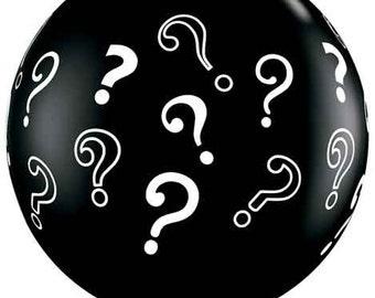 "Giant 36"" Black Question Mark Gender Reveal Balloon Premium Quality Ballon  Party Decor prop ""Same Day Shipping"""