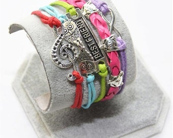 Multilayer Leather Best Friend  Bracelet