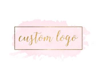 Custom Logo- Watercolor Logo - Logo - Custom Watercolor Logo - Watercolour Logo -Custom Designed Gold Foil Premade Logo Pre made logo design