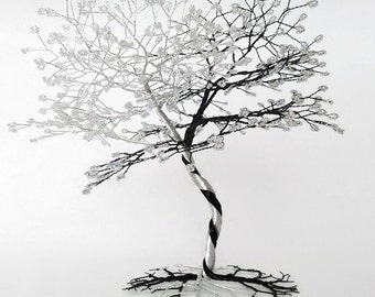 Wire Tree Sculpture - Wedding Cake Topper - Bonsai Tree