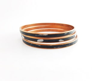 Clay Inlay Copper Bangle