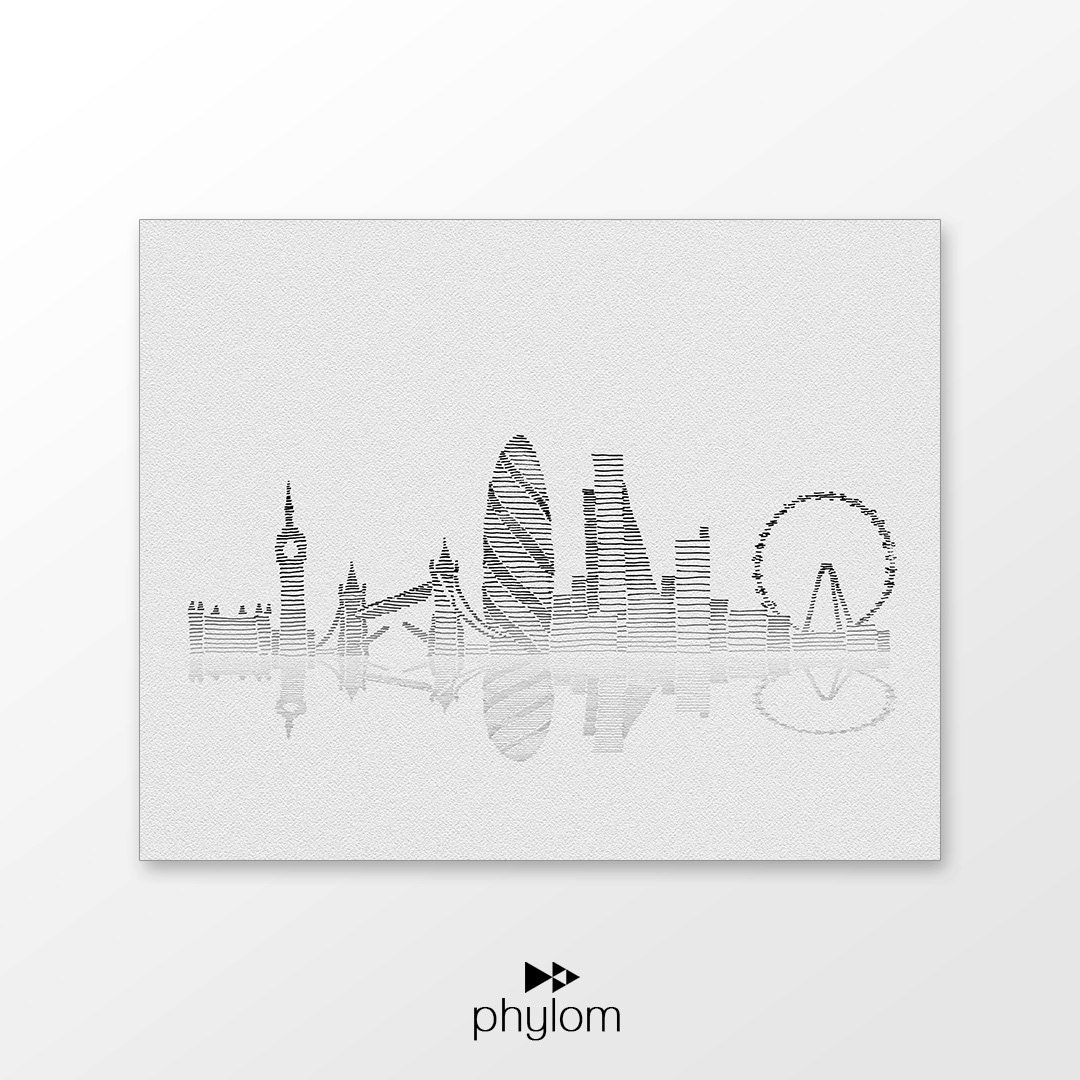 Line Drawing Tattoo London : London skyline art printable hand drawn illustration