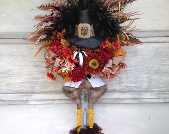 Thanksgiving Wreath, Fall Wreath, Turkey Wreath