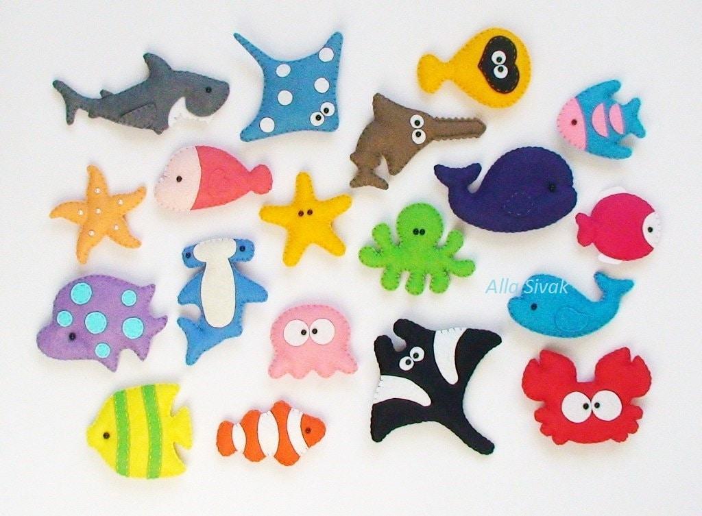 Felt Food Toys R Us : Sea creatures set of lifesea life