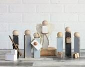 Nativity Set, Farmhouse nativity, Fixer Upper Christmas, Wood nativity set, farmhouse nativity, primitive nativity, wooden creche, peg doll