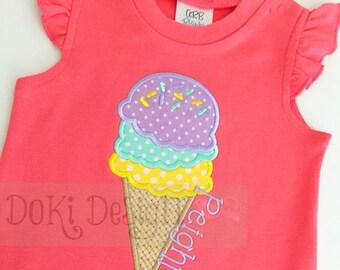 Peach Ice Cream Summer Ruffle Romper
