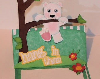 Bear Hang In There Layered Card