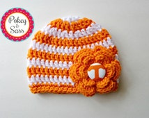 University of Tennessee Striped Crochet Baby / Toddler Hat Beanie