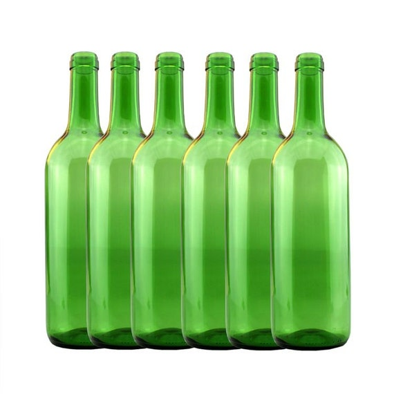 pack 6 green wine bottles 1 5 litre wine making home brewing. Black Bedroom Furniture Sets. Home Design Ideas