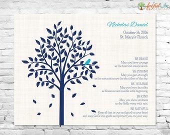 CHRISTENING GIFTS, Baby Dedication, Gift for Goddaughter, Gift for Godson, Baptism Tree, Dedication Gift, Personalized Baptism Gift