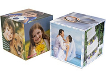 Personalized photo cube