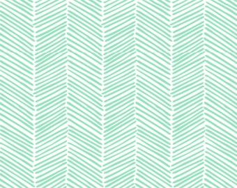 Mint Freeform Arrows, Seafoam, Jade Herringbone - Swaddle, Boppy Cover, Crib Sheet, Changing Pad Cover, Sherpa Blanket, Minky