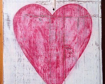 Rustic Red Heart