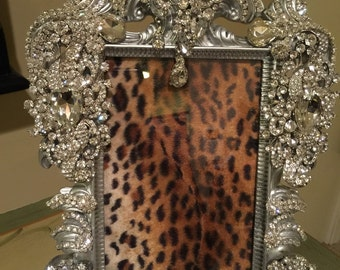 Rhinestone Wall Mirror bling table frames | etsy