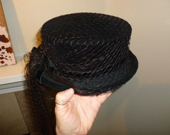 Vintage Ladies Equestrian / Edwardian Style / Derby Style Riding Hat