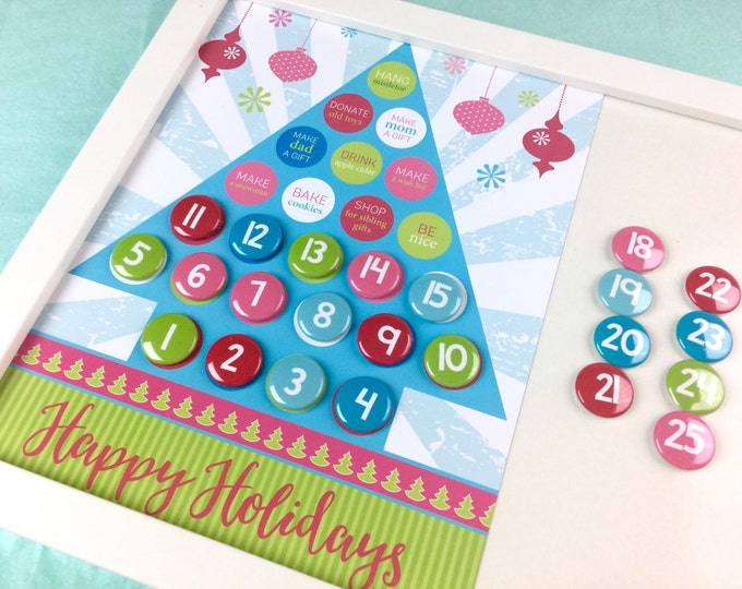Christmas advent calendar - holiday gift - christmas countdown - holiday decor - December countdown - Family Activities