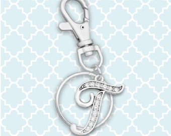 T Initial Keychain Zipper Pull - 54376