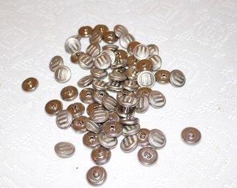 65 Metallic Shank Buttons