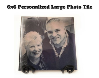 Valentines Day Gift / Glossy Ceramic Tile Photo Gift / Personalized Gift For Wife or Husband