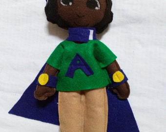Black doll African American superhero