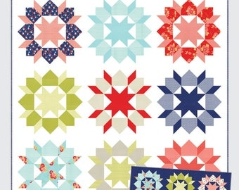"""Swoon Quilt Pattern by Camille Roskelley of Thimble Blossoms House quilt #142 80"""" by 80"""" fat quarter friendly"""