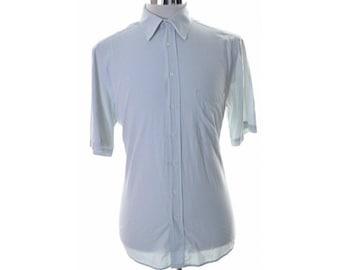 Hugo Boss Mens Shirt Size 40 Medium Blue Check Cotton