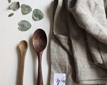 Fine linen heavy duty large tea towel dish cloth natural, handmade, uk minimal sustainable