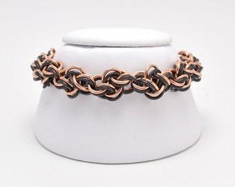 Cloud Cover Bracelet in Bronze and Black Niobium