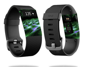 Skin Decal Wrap for Fitbit Blaze, Charge, Charge HR, Surge Watch cover sticker Green Waves