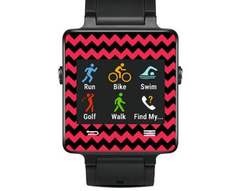 Skin Decal Wrap for Garmin Vivoactive Forerunner, Vivoactive Forerunner Hr Watch cover sticker Zig Zag Chevron