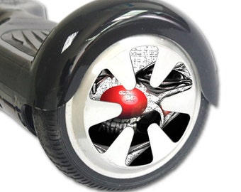 Skin Decal Wrap for Hoverboard Balance Board Scooter Wheels Evil Clown