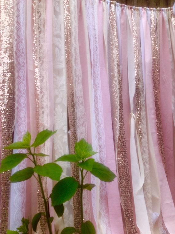 Rose Quartz Garland Rose Gold Wedding Backdrop 7 By