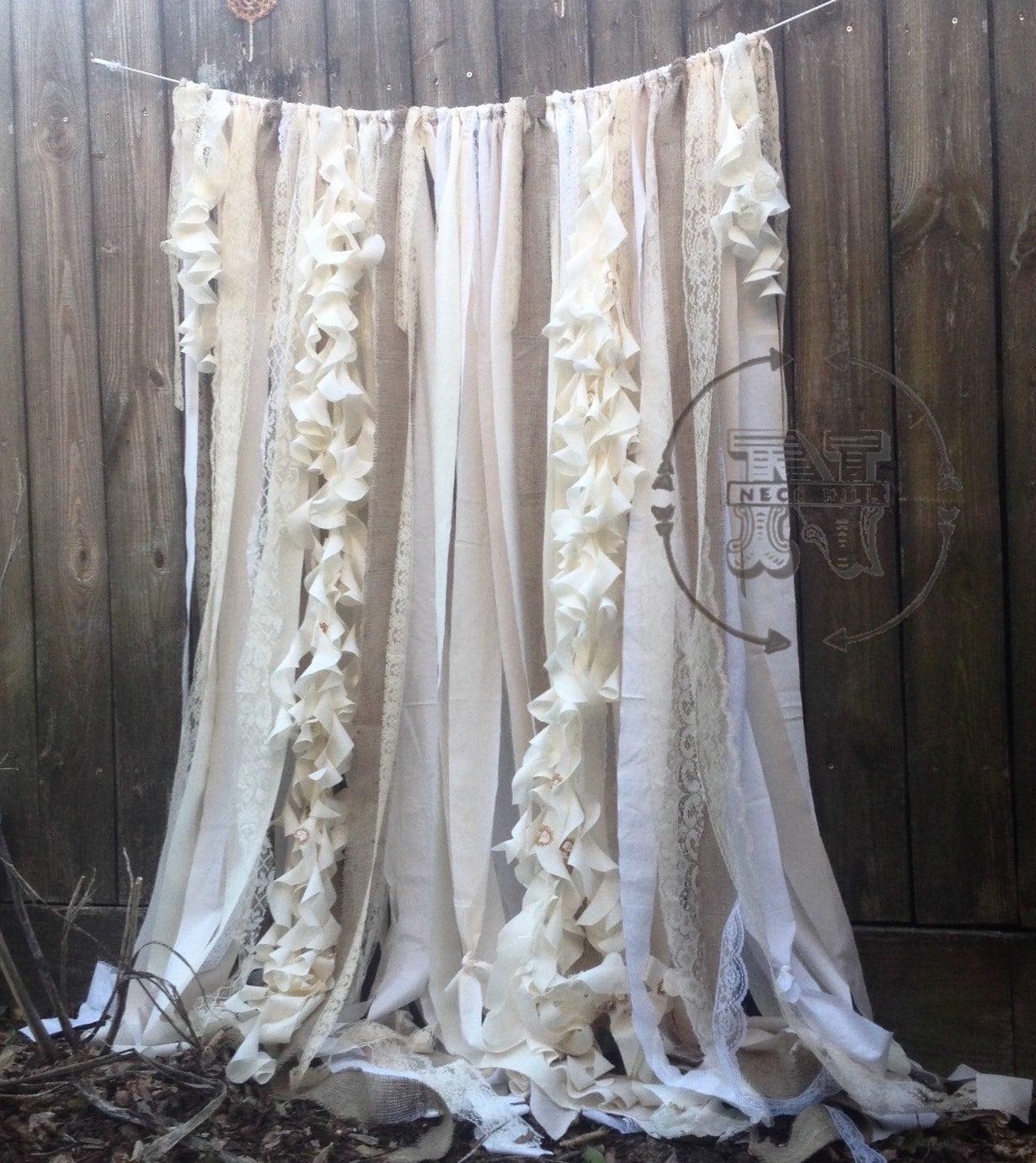 Ruffled sheer curtains
