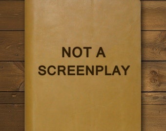 NOT A SCREENPLAY | Tan Notepad