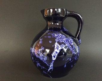 Marei Keramik 4301 Mid Century Modern  1970s stunning  handled vintage  vase   West Germany ceramic. WGP.