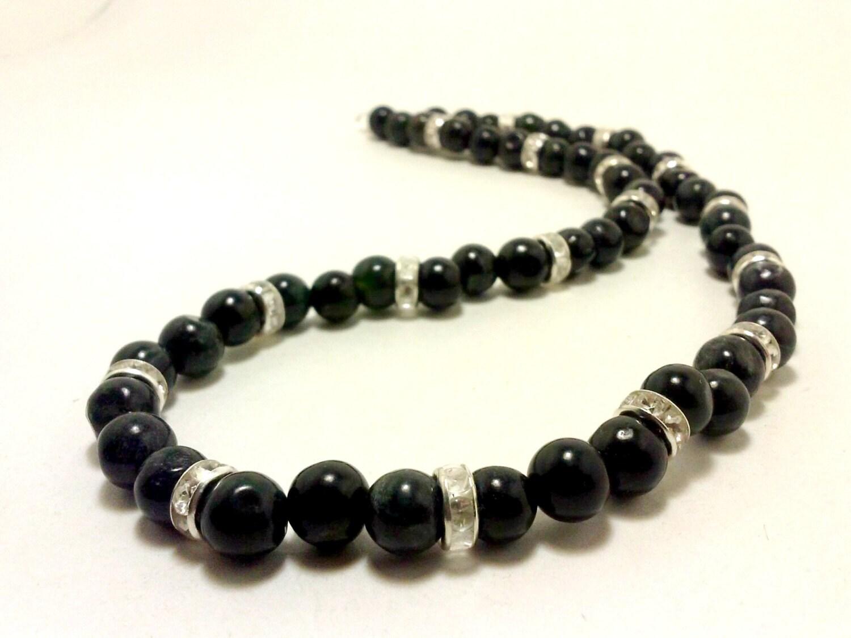 SHOP CLOSING SALE Serpentine Necklace Gemstone by ...  SHOP CLOSING SA...