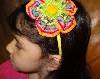 Peruvian Headband. Hair clip,Aligator clip,Elastic Headband and Plastic Headband.  For babies and girls.