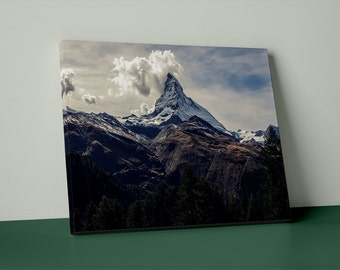 Matterhorn in Summer on Mirror Wrap Canvas