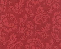 3 Sisters for Moda  Mille Couleurs Floral Damask in Madder Red 100% Cotton Quilt or Craft Fabric # 44083-13
