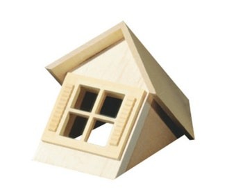 DOLLHOUSE MINIATURES 1:24 SCALE Dormer Unit With Window #HWH7002